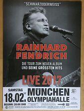 RAINHARD FENDRICH  2017 MÜNCHEN ++ orig.Concert Poster -- Konzert Plakat  A1 NEU