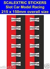 Slot car / Scalextric stickers Model Race champion Logo Lego self adhesive vinyl