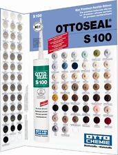 OTTOSEAL S100 Farbkarte Farbtafel für Das Premium-Sanitär-Silicon Otto-Chemie