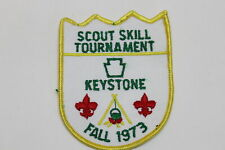 Vintage 1973 Keystone Scout Skill Tournament Boy Scout Patch BSA