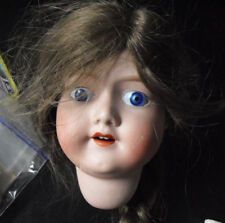"Vintage 1920s Mb Japan 7 Bisque Girl Doll Head 5 3/4"" Tall"