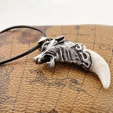 Amulet Fang Tooth Spike Wolf Tooth Men Necklace