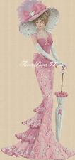 Cross stitch chart  Elegant Lady 156G full length     Flowerpower37-uk