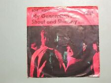 """THE WHO - My Generation/Shout and Shimmy 7"""" 1965 Whine-red Decca German PiCvr EX"""