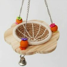Handmade Bird Swing Toy and Cotton Rope Nesting Basket Nest with Wooden Platform