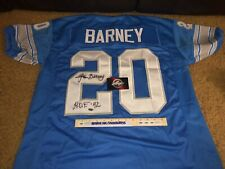 Lem Barney #20 Detroit Lions Signed Autographed Custom Football Jersey-Leaf Coa
