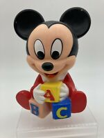 Vintage Mickey Mouse Squeaker Toy Shelcore Vinyl Disney 1984/1986