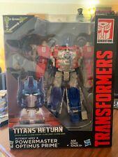 Transformers Titans Return OPTIMUS PRIME & APEX Complete Generations Powermaster