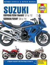 Haynes Manual Suzuki GSF650 GSF650s GSF1250 Bandit GSX650 2007 - 2014 NEW 4798