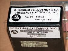 FE-5650A OUTPUT 10MHz RUBIDIUM ATOMIC FREQUENCY STANDARD