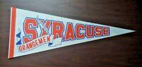 Rare Vintage Syracuse Orangemen NCAA College Basketball Orange Team Logo Pennant