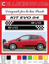 ADESIVI FIAT PUNTO, ABARTH, EVO GRANDE PUNTO FASCE LATERALI KIT EVO 04