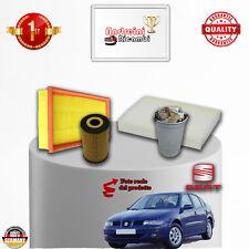 KIT TAGLIANDO 4 FILTRI SEAT TOLEDO II 1.9 TDI 66KW 90CV DAL 2004 -> 2006