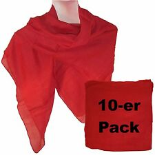Set 10 foulard rosso 100% cotone 100x100 cm accessori moda donna