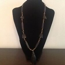 Decorative Chunky Wooden Tooth Necklace