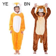 Kids Unisex Fox Lion Cosplay Pajamas Set Sleepwear Jumpsuit Costume Fancy Dress