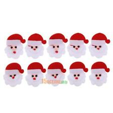 10pcs Santa Claus Shaped Patch Padded Felt Appliques Christmas Tree Accessories