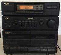 VINTAGE AIWA STEREO CASSETTE RECEIVER MODEL No. XS-N2U NO SPEAKERS