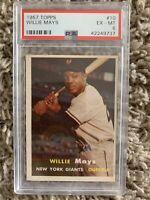 1957 Topps Willie Mays #10 PSA 6 EX-MT NY Giants HOF  Baseball Card