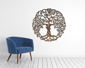 Tree Of Life sticker wall elegant metal style Home Decor room office Art