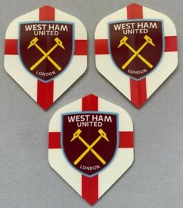 West Ham England Dart Football Team Flights Standard Shape New Badge