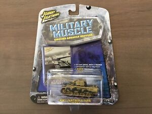 Johnny Lightning Military Muscle WWII German Camo Panther G Tank 1/100 New