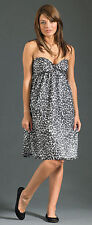 $240 NEW JOIE Broken Pieces Animal Print Strapless Sun Dress Size medium M