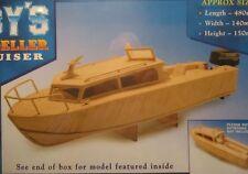 Hobby's MM24 Matchmodeller - Cabin Cruiser Matchstick Model Boat Kit - T48 Post