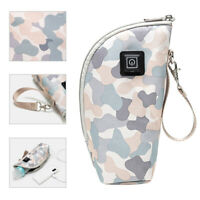 USB Insulated Bag Milk Bottle Warmer Portable Travel Cup Adjustable Temperature
