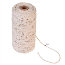 200m 100 Natural Cotton String Twisted Cord Beige Craft Macrame Artisan 3mm Hot