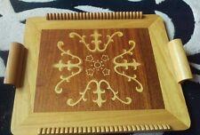 Handmade wooden tray.