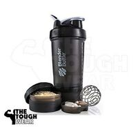 Blender Bottle ProStak 22 oz BlenderBottle Mixer Pro Stak Shaker Cup FULL BLACK