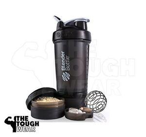 Blender Bottle ProStak 22 oz BlenderBottle Mixer Pro Stak Shaker Cup FULL BLACK