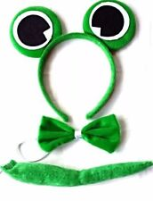Frog Animal Set Book Week With Headband Ear Bow Tie & Tail Party Halloween