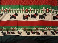 Fabric Scottish Terrier Scottie Christmas Wreath Bow