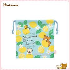 San-X Rilakkuma Fresh remon Drawstring Bag Pouch 19 x 19.5 cm (CT88001) 10C08-2