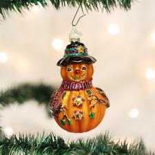 OLD WORLD CHRISTMAS MR. JACK O'LANTERN PUMPKIN GLASS HALLOWEEN ORNAMENT 26034