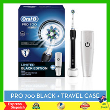 Braun Oral-B PRO 700 Rechargeable Electric Toothbrush 1 Travel Case And 1 Head