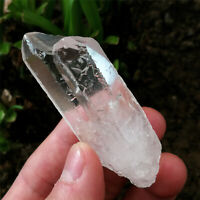 50g Etched Himalaya Nirvana Quartz Natural Luster Clear Interference Quartz RARE