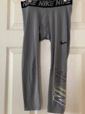 Nike Pro Dri Fit Compression Pants Gray Boys Size Large