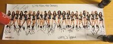 2012-13 Miami Heat Dancers Autographed Signed 9X24 Poster NBA Basketball