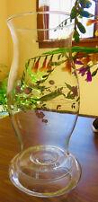 Hurricane Chimney Candle Holder - flowered - lovely - Free Shipping