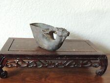 """.Vintage Bronze Libation Cup 5 1/2""""L x 2 1/2""""H"""