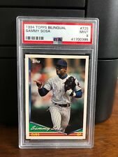 1994 Topps Bilingual Sammy Sosa Baseball Card #725 PSA 9 Mint