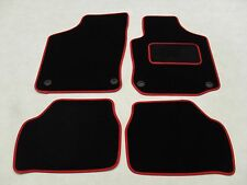 Vauxhall Corsa C 2000-06 Fully Tailored Deluxe Car Mats in Black with Red Trim.