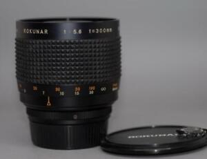 Rokunar 300mm f5.6 Mirror Reflex lens in Contax SLR mount. - Nice Mint-!