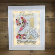 LED LIGHT BOX FRAME UNIQUE BIRTHDAY GIFT 21st 30th 40th 50th 60th 70th Scrabble