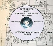 Krohn-Hite Operating & Maintenance Manual for 6800 Automatic Distortion Analyzer