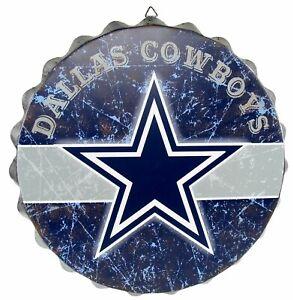 "Dallas Cowboys Bottle Cap wall sign NEW 13.5"" distressed logo FOCO Christmas"