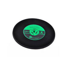 1x Retro Table Cup Mat Decor Coffee Drink Placemat Vinyl CD Record Drink Coaster Yellow